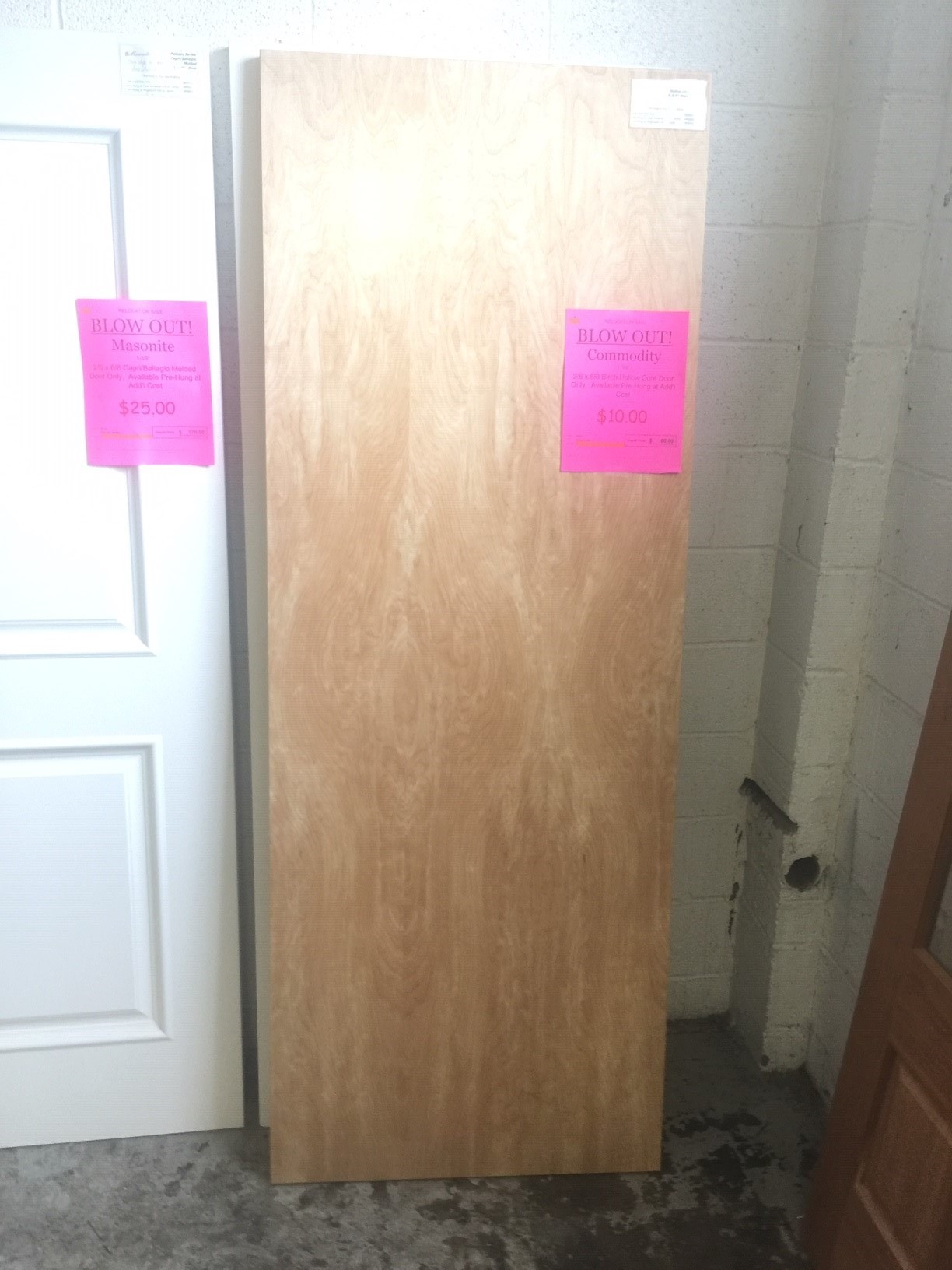Birch Hollow Core Door